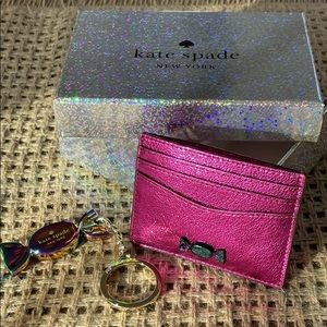 Kate Spade Candy Shop Card Case Key FOB Chain box